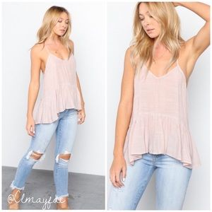 Tops - New Ballet Pink Ruffle Cami